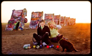 Sunrise at Cadillac Ranch, Amarillo, TX